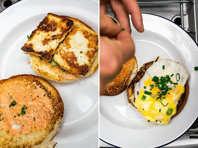 Grilled Halloumi Breakfast Sandwich