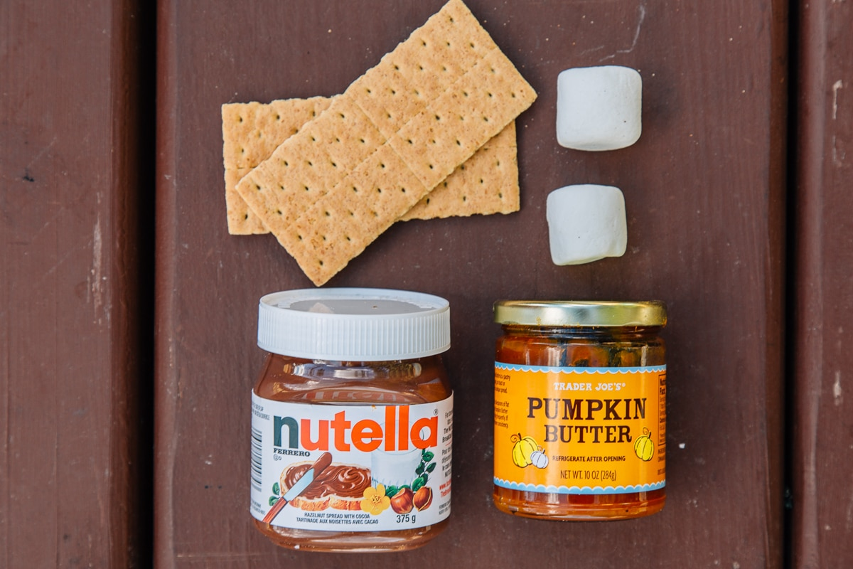 Best of Fall Camping: Pumpkin Butter & Nutella S'more