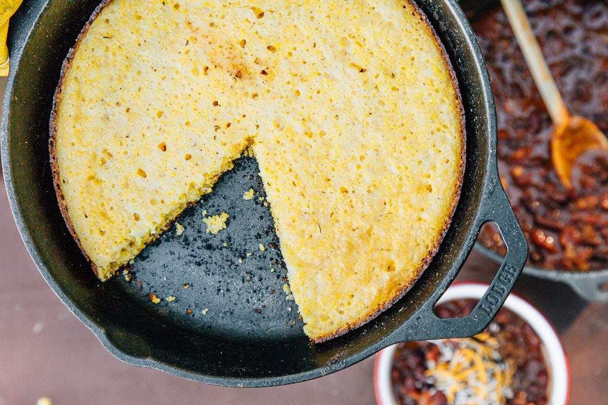 Campfire Skillet Cornbread