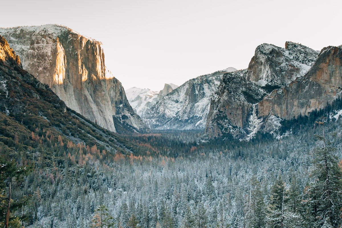 Yosemite's Tunnel View in Winter