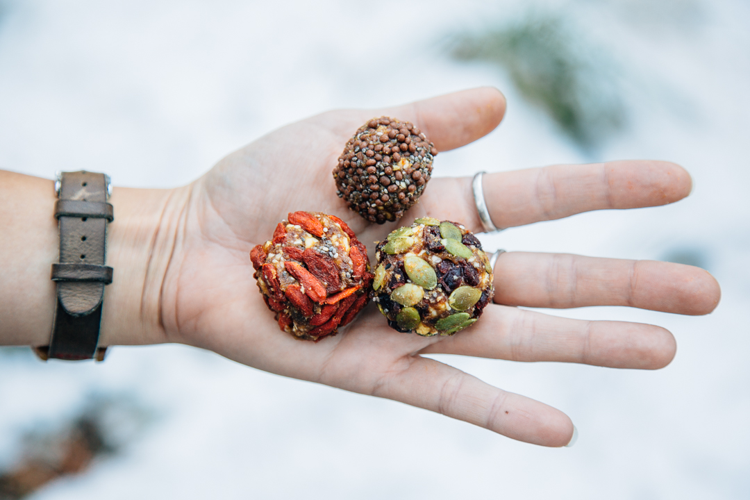 An easy make ahead snack for hiking or camping trips: Trail Mix Bliss Balls!