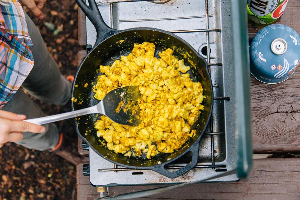Vegan Tofu Scramble Breakfast Burrito