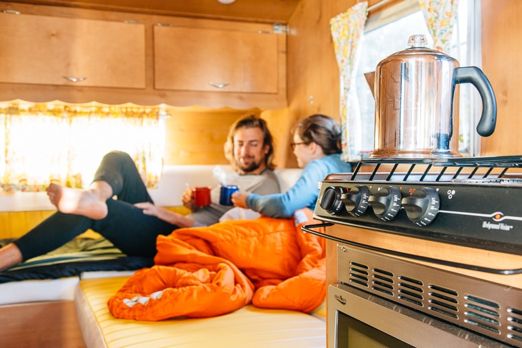 Camping in a vintage Shasta Trailer | The Holidays CA Camp Community