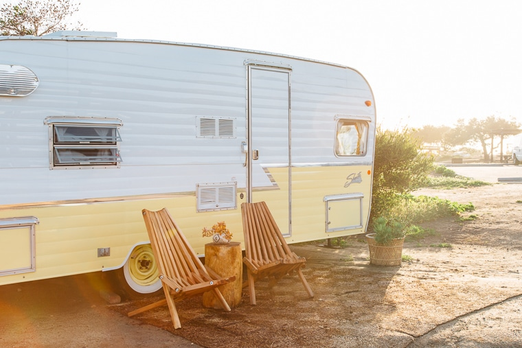 Camping in a vintage Shasta Trailer | The Holidays CA Camping Community