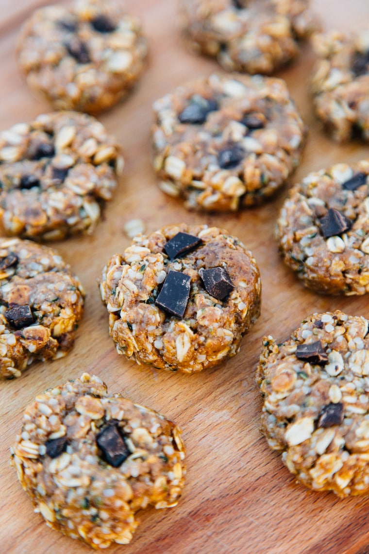 Try these homemade No Bake Coconut Almond Trail Cookies next time you head out for a hike! #vegan #glutenfree