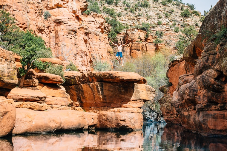 The Ultimate Guide to Sedona's Swimming Holes | The Crack at Bell Crossing