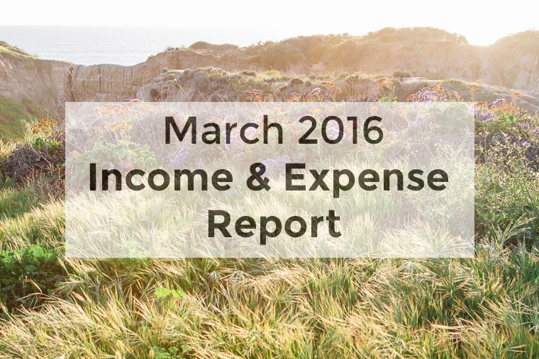 Fresh Off the Grid's Food and Travel Blog Income Report - March 2016