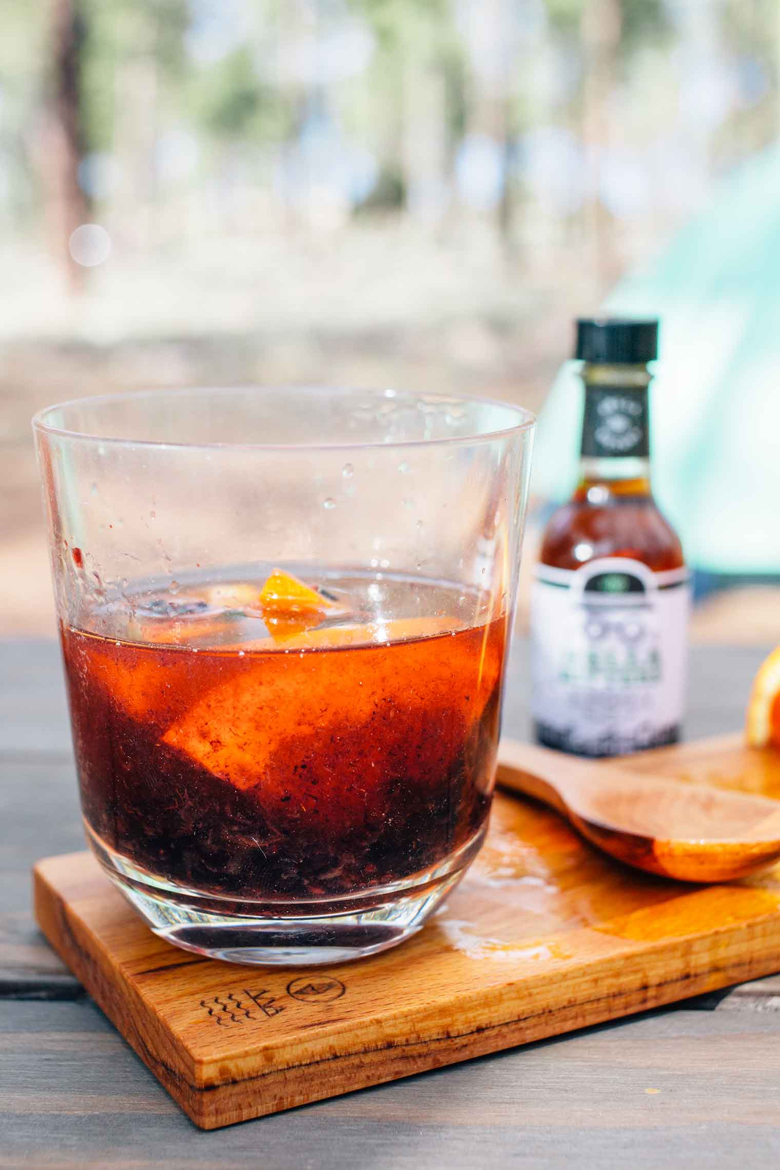Looking for the perfect summer camping cocktail? This Blackberry Citrus Old Fashioned is the warm weather whiskey drink you've been waiting for.