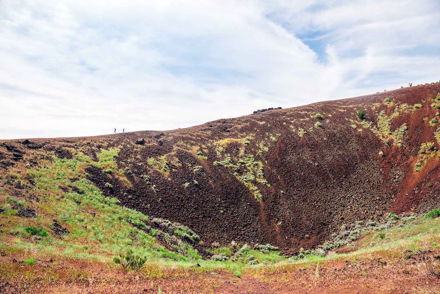 Hike to the top of a cinder cone outside of St. George, Utah