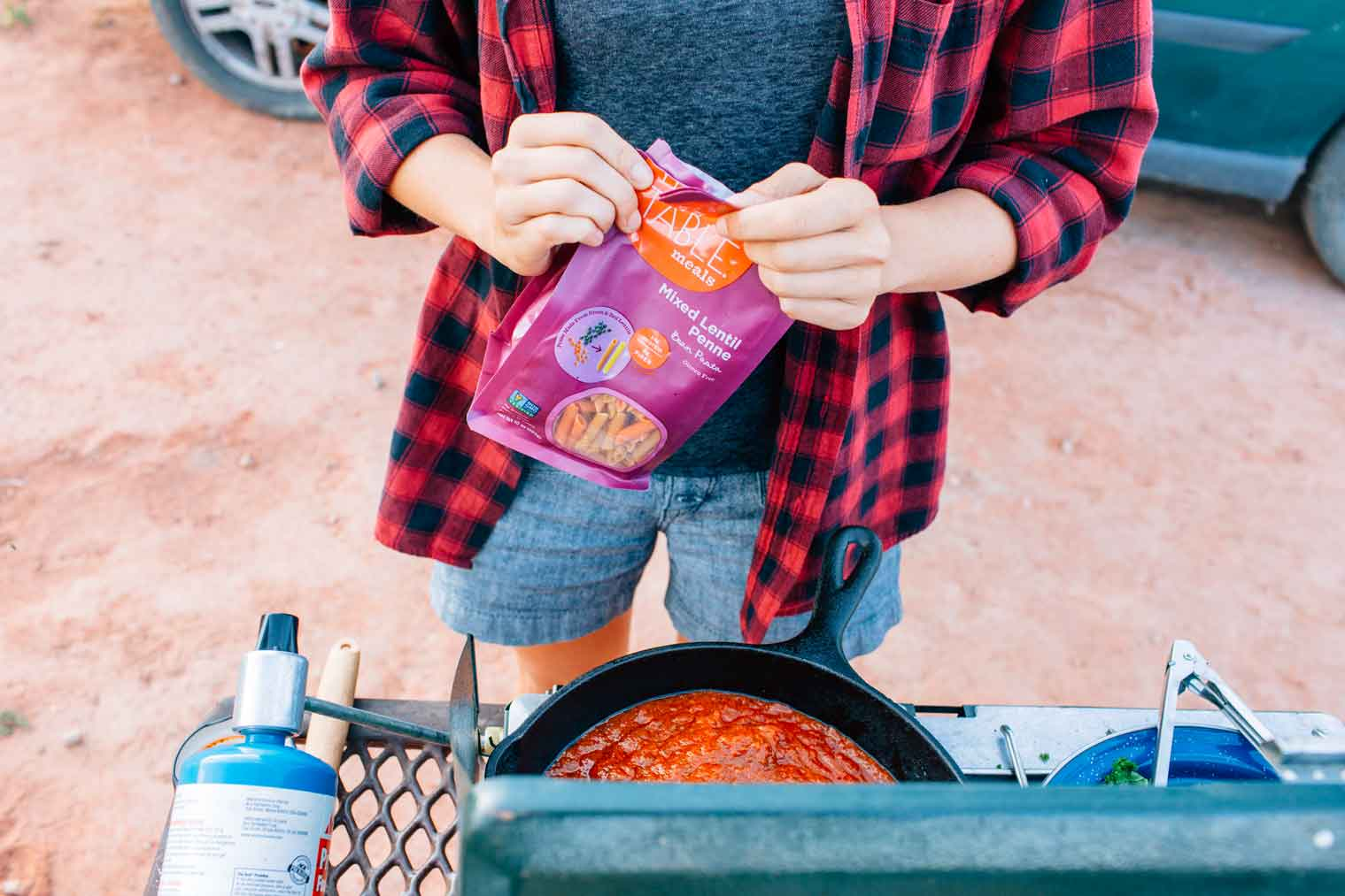How to stock your camping pantry. Our best tips & tricks, favorite camping pantry items, plus tasty recipes you can make using those ingredients!