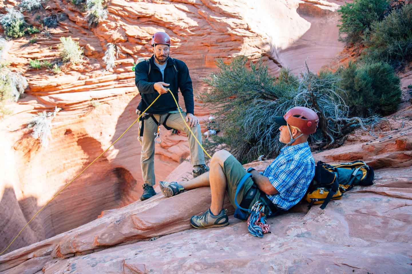 Learning Canyoneering with Zion Adventure Company