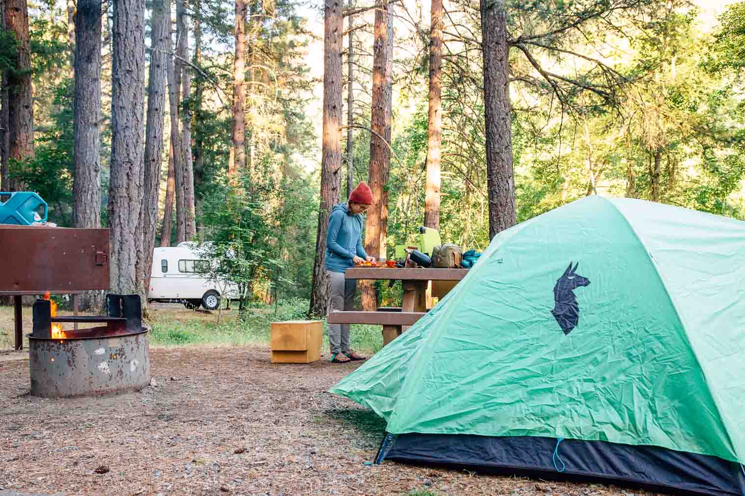 Camping at Steel Bridge Campground
