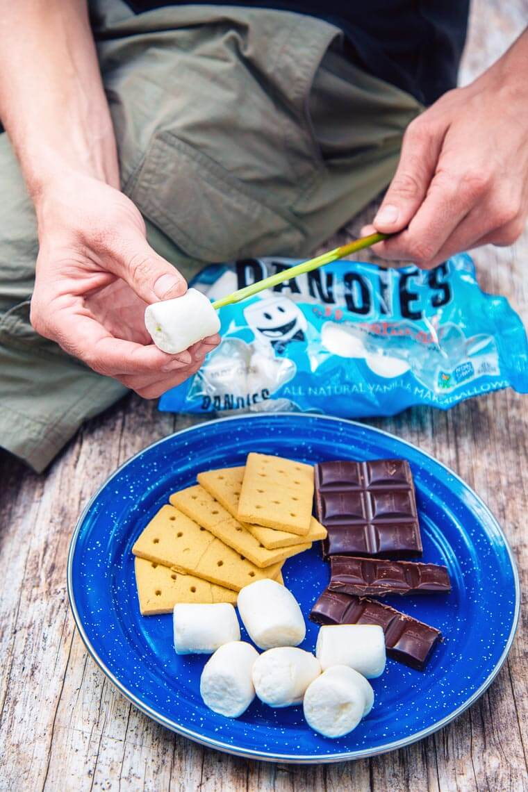 Dandies vegan marshmallows for campfire s'mores