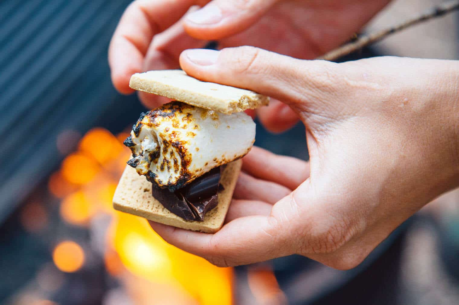 Vegan s'mores with Dandies vegan marshmallows