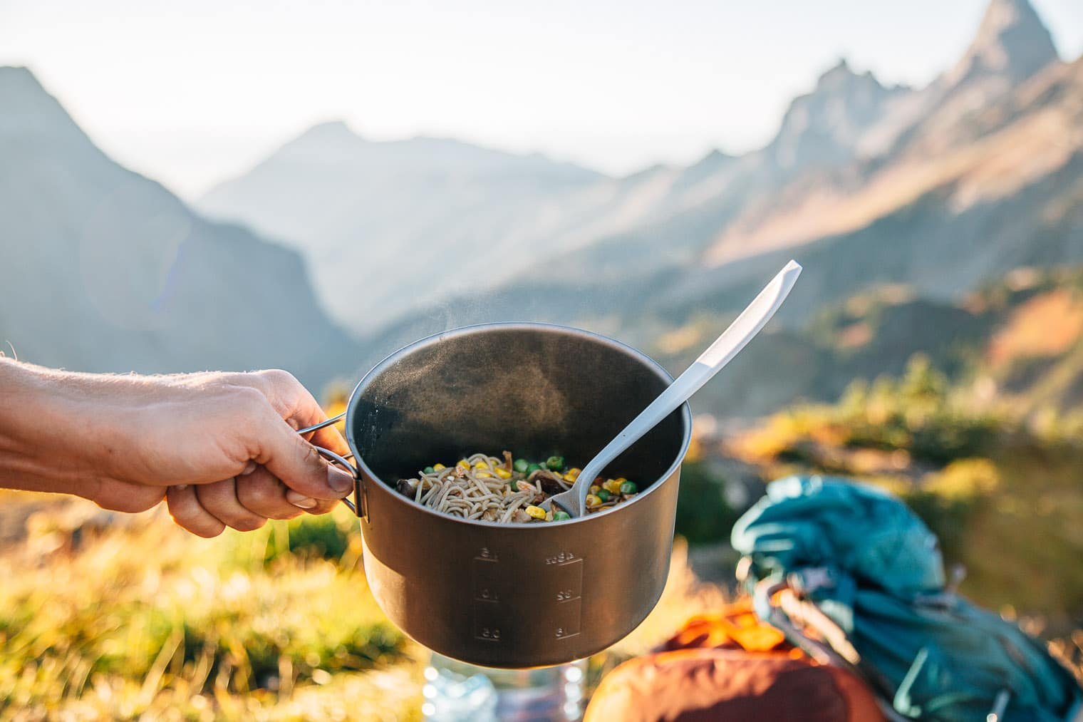 Ditch the Top Ramen on your next backpacking trip - this homemade soba noodle ramen is healthier, more nutritious, and loaded with protein.