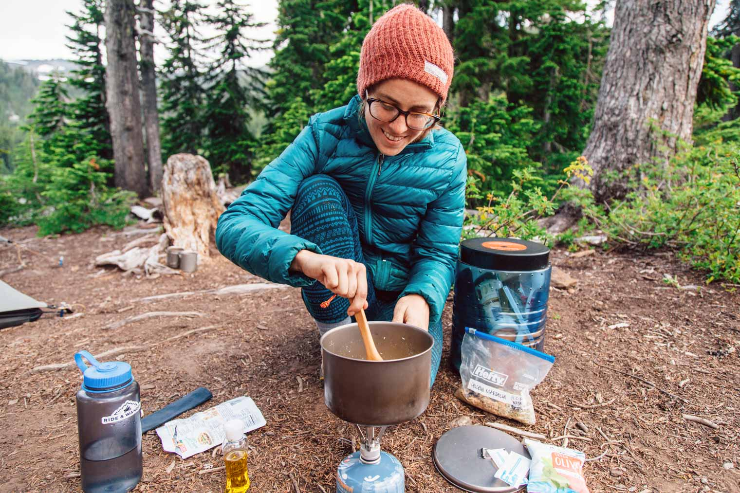 Backpacker's Chicken Marbella: A sweet & savory backpacking meal that uses no dehydrated ingredients and requires only boiling water to cook. A fast, simple, and totally mouthwatering dinner for your backcountry adventures.