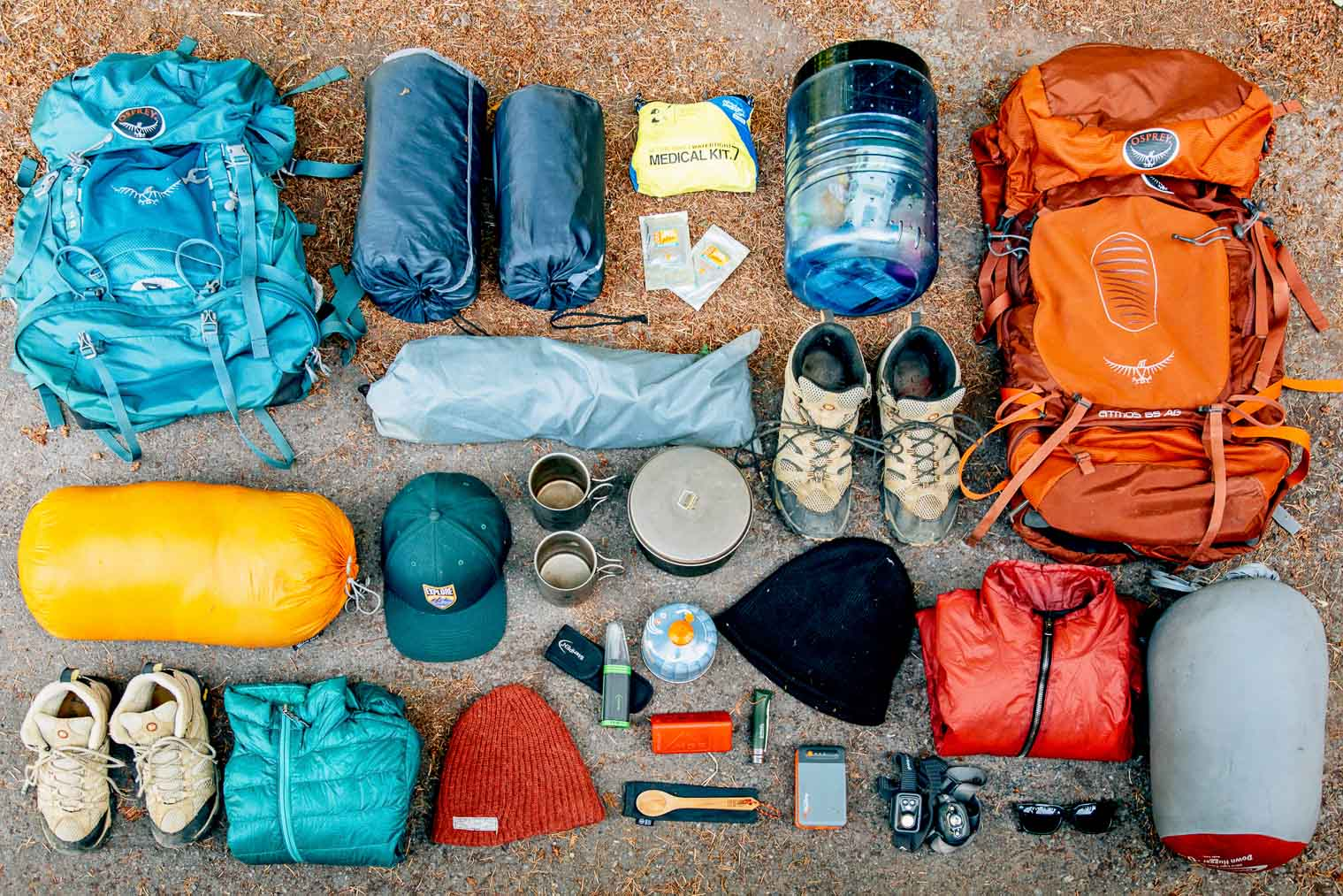 His & Hers backpacking gear