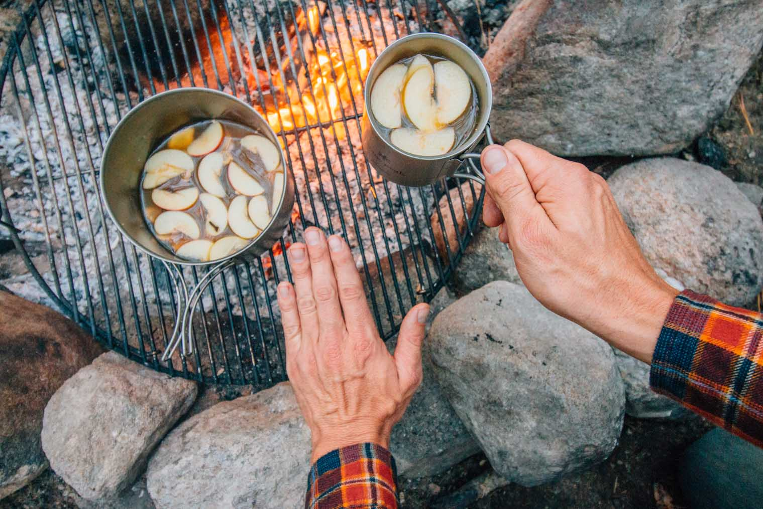 Ginger spices up a classic apple cider to make a perfect drink for sipping around the campfire. This is a perfect camping cocktail for cooler evenings!