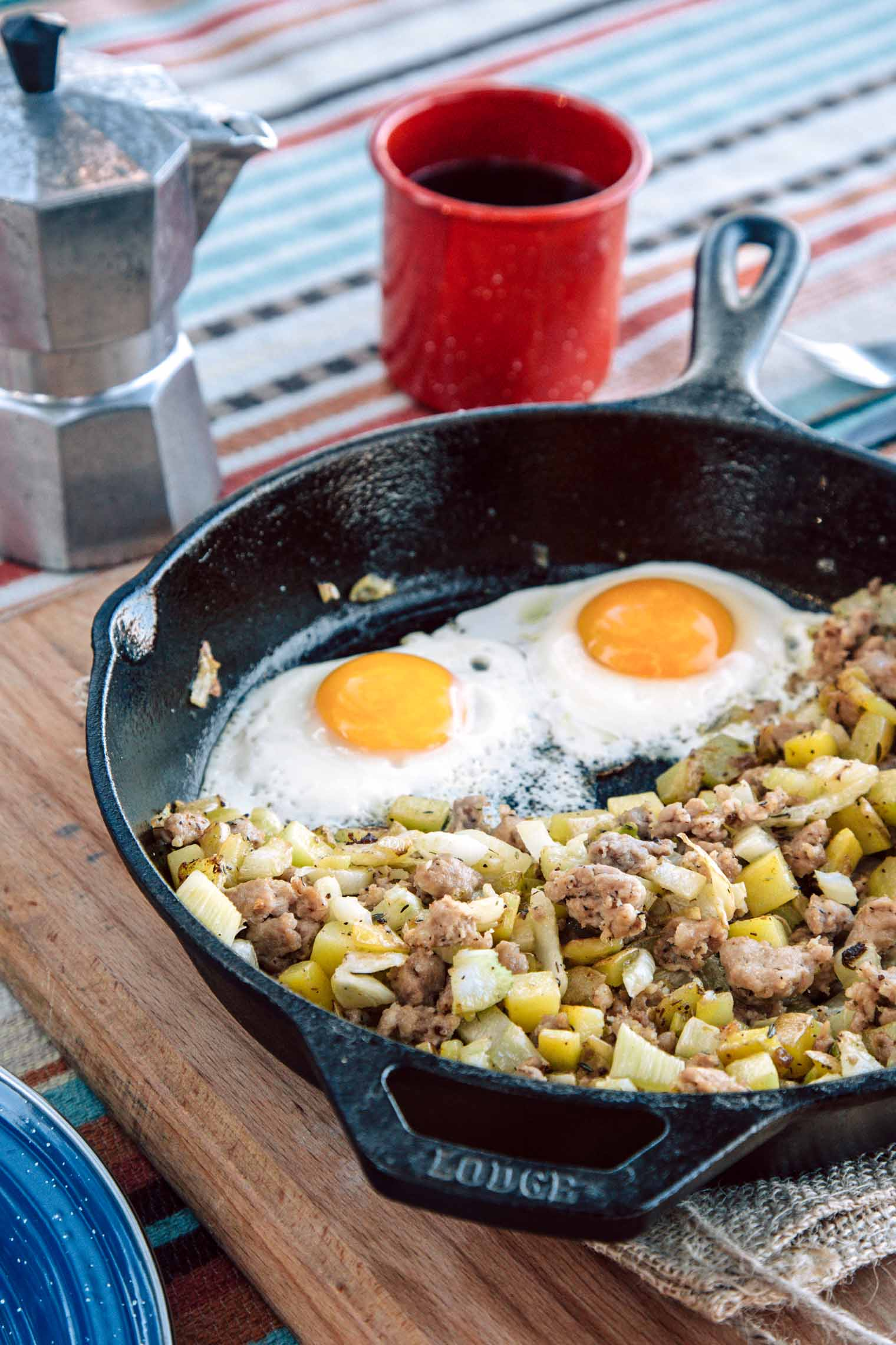 This Sausage Fennel And Potato Hash Is An Easy Breakfast To Make While Camping