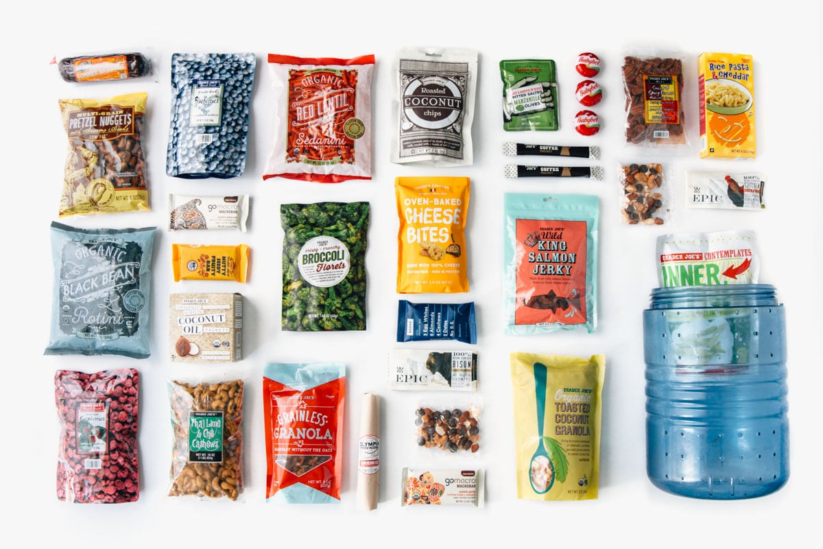 A comprehensive list of the best backpacking food ideas from Trader Joe's.