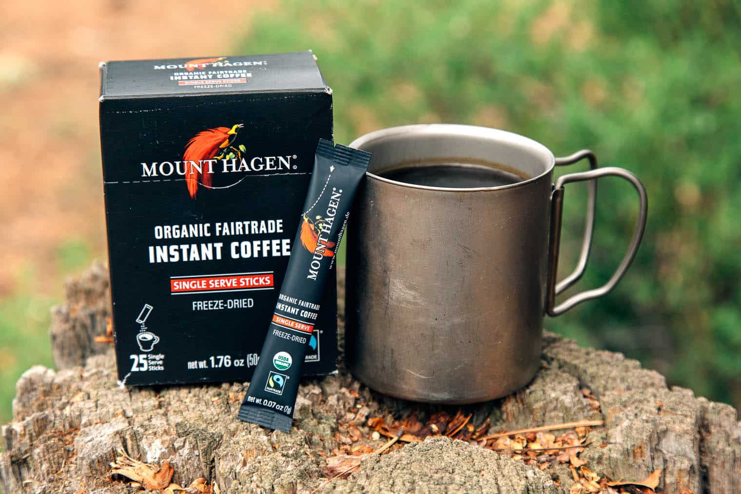 Mount Hagen Organic Instant Coffee - Instant Coffee for Backpacking