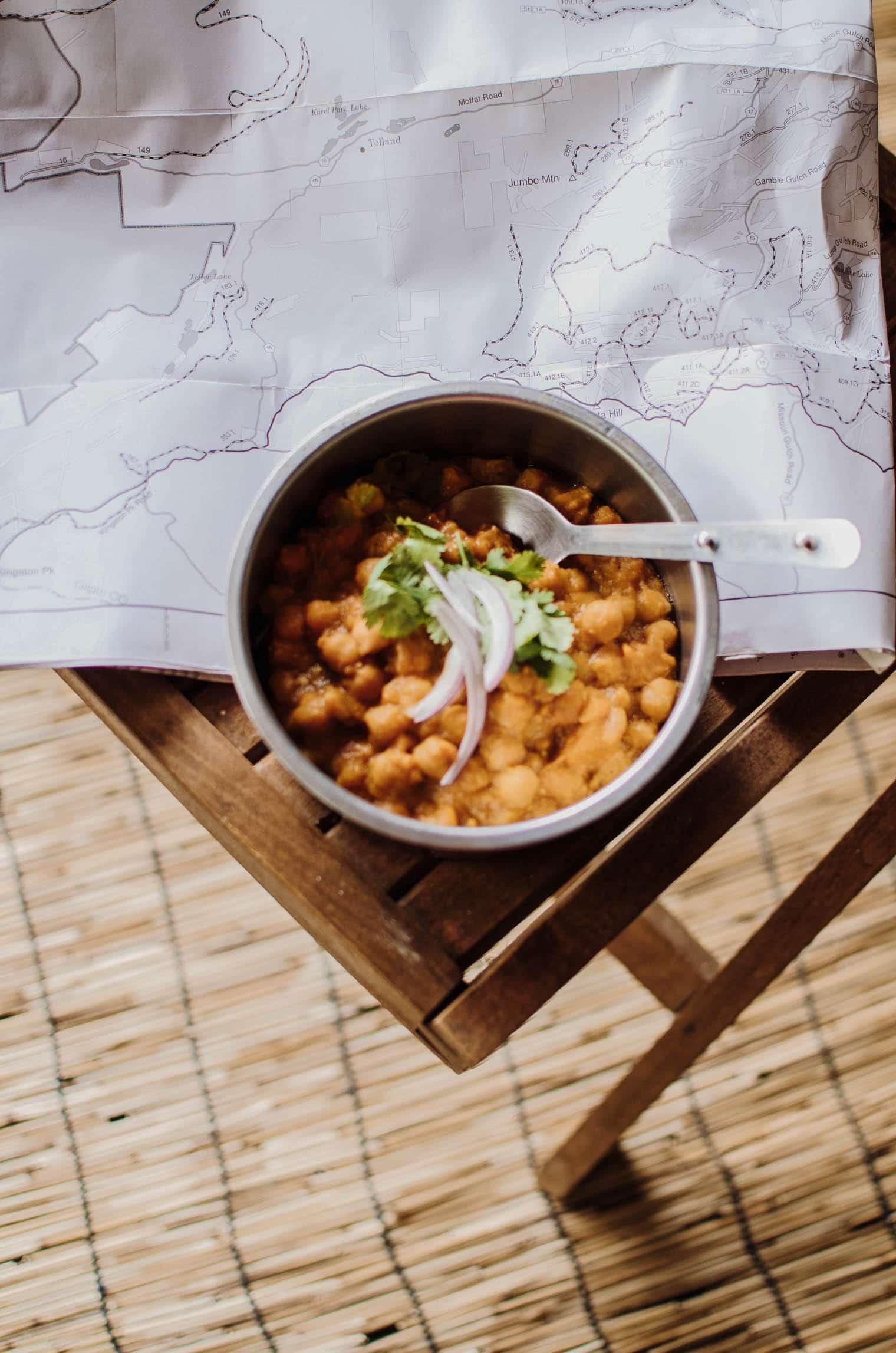 Vegan Sweet Potato Chana Masala recipe