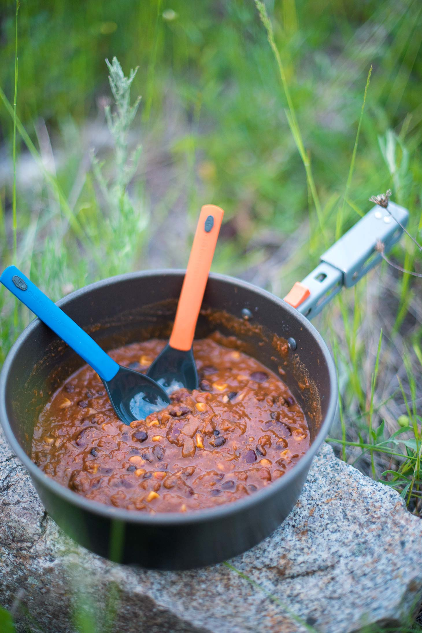DIY Backpacking Food - a healthy vegan quinoa chili made with a dehydrator, perfect for your backcountry adventures.