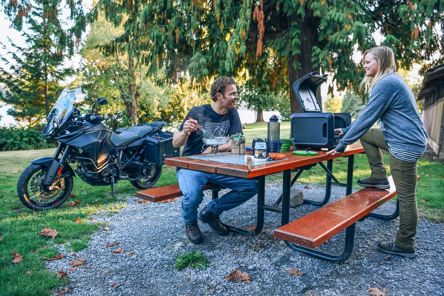 a guide to the best compact kitchen gear for motorcycle camping and touring - Camping Kitchen
