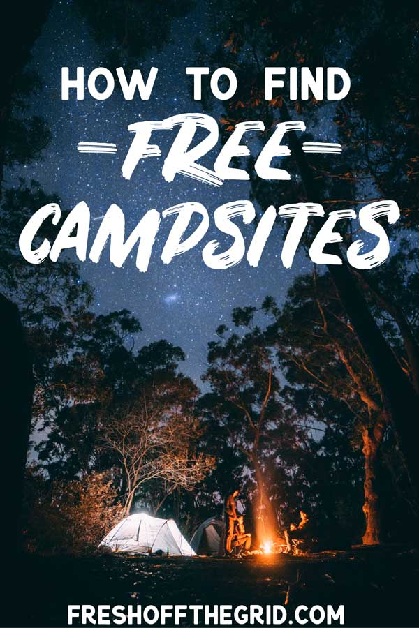 How to Find Free Campsites Pin