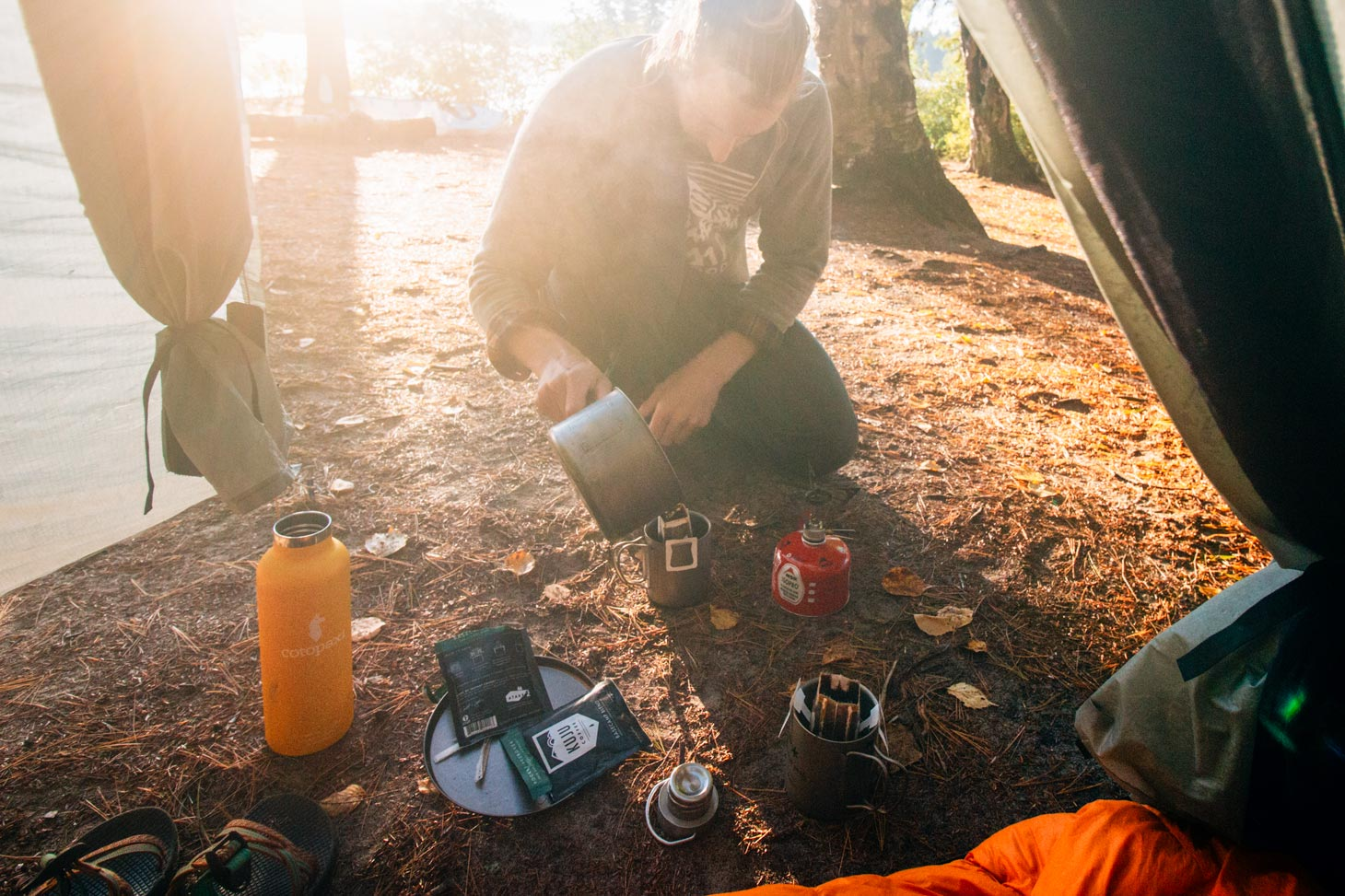 Kuju portable pourover coffee for camping